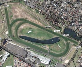Sandown Hillside track map