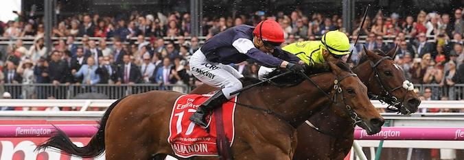 Almandin en route to winning the 2016 Melbourne Cup