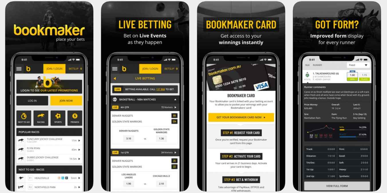Bookmaker.com.au Android and iOS Mobile Apps