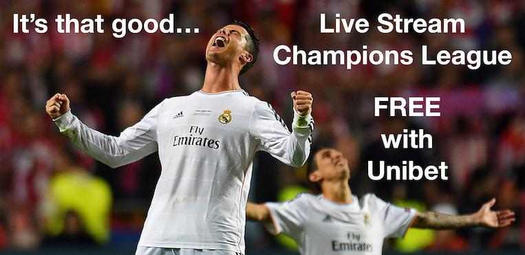 Live Stream FREE Champions League Football