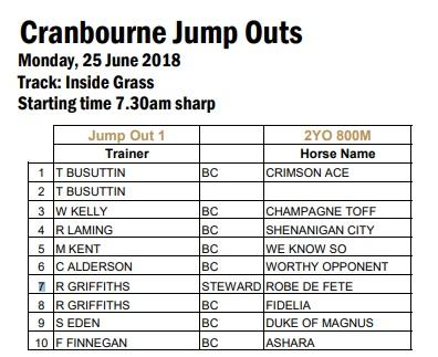 Cranbourne Jump-out list