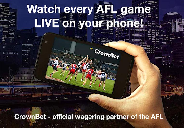 Live Stream every AFL game with CrownBet