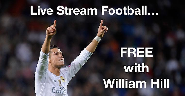 Stream Soccer for FREE with William Hill