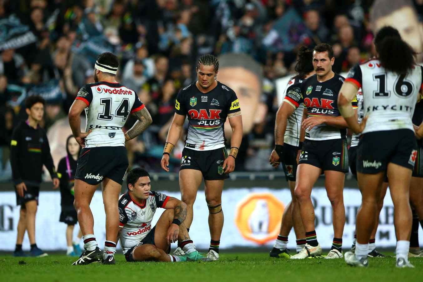 Issac Luke of the Warriors dejected after losing the NRL Elimination Final match between the Penrith Panthers and the New Zealand Warriors at ANZ Stadium on September 8, 2018 in Sydney, Australia.