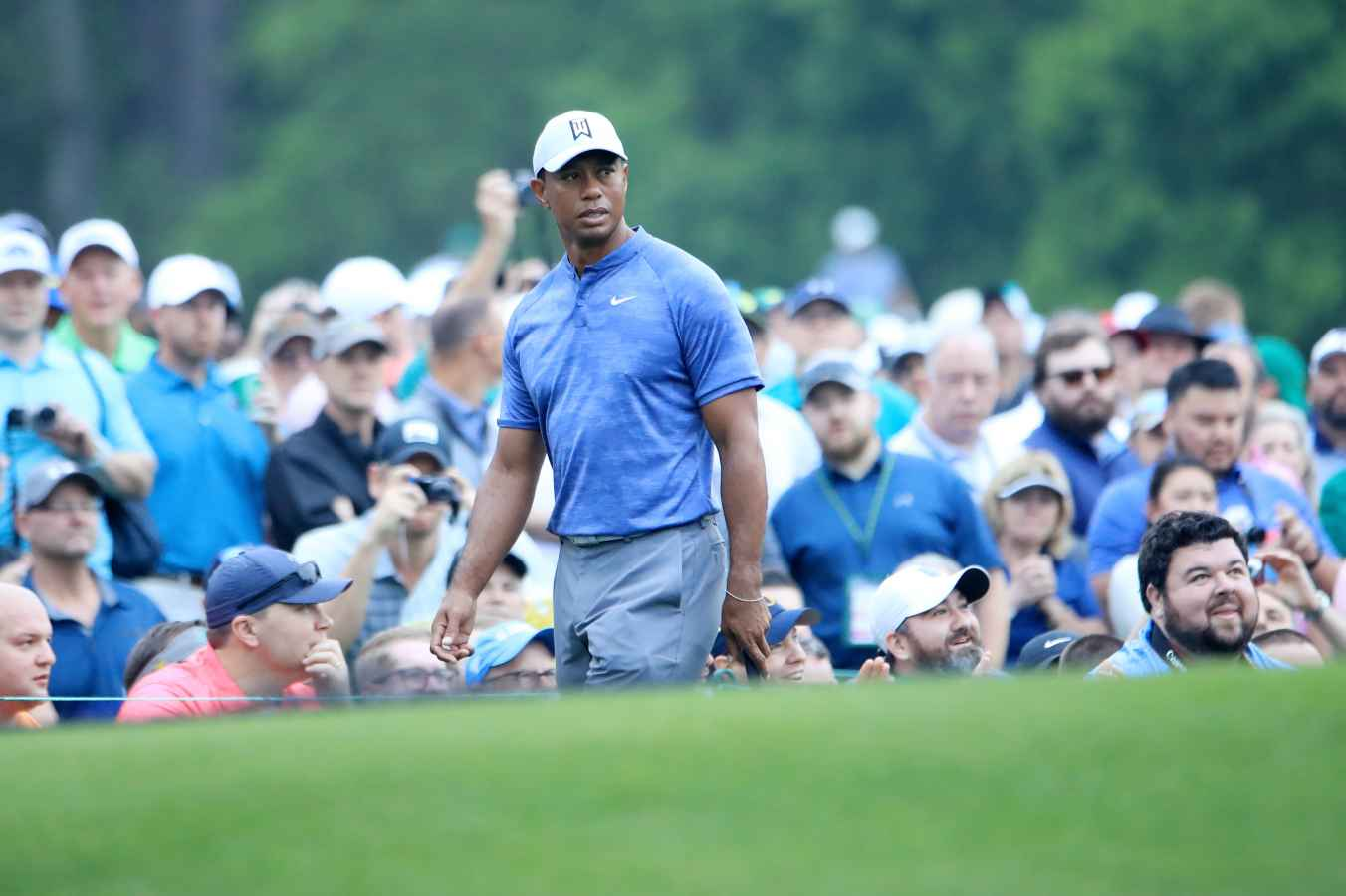 Tiger Woods at Augusta National, 8th March 2019