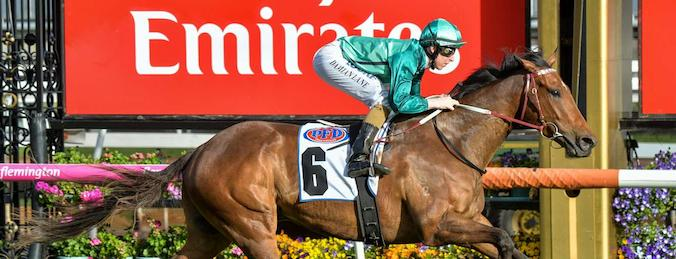 Humidor winning the 2017 Makybe Diva Stakes