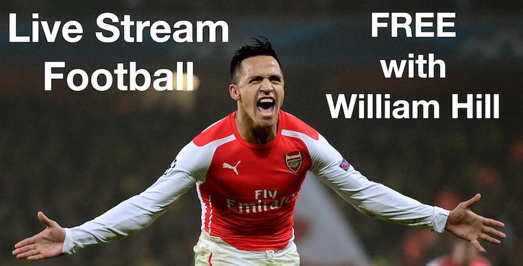 Live Stream Football FREE with William Hill