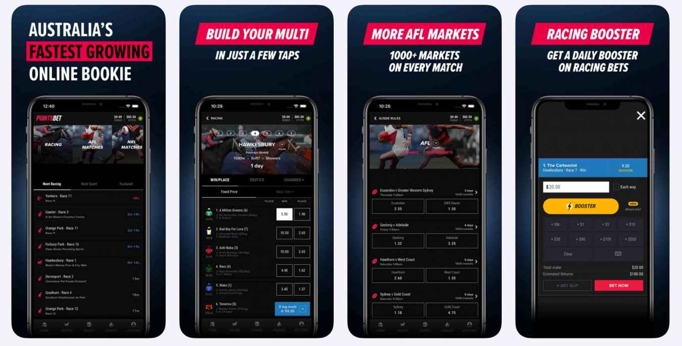 PointsBet Android and iOS mobile app