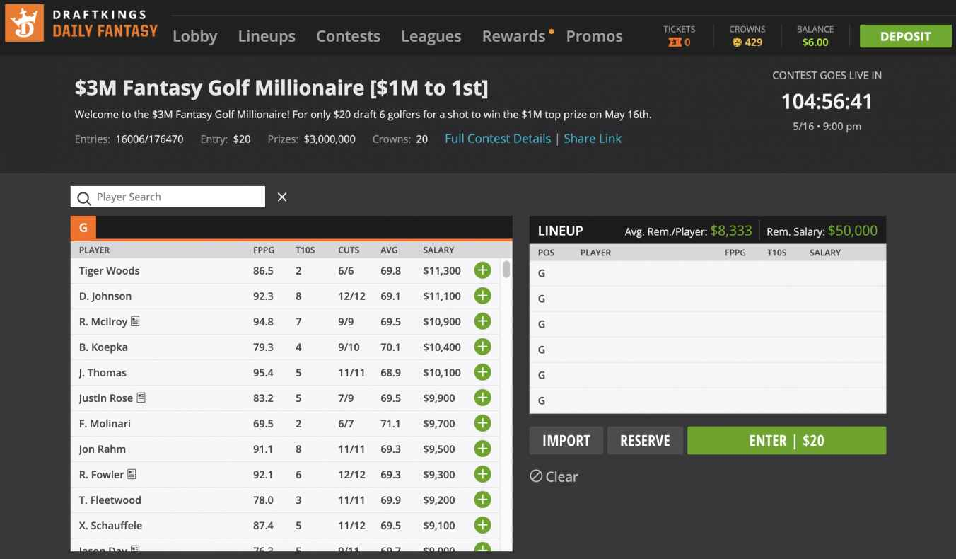 How to play DraftKings' Millionaire contest | Odds