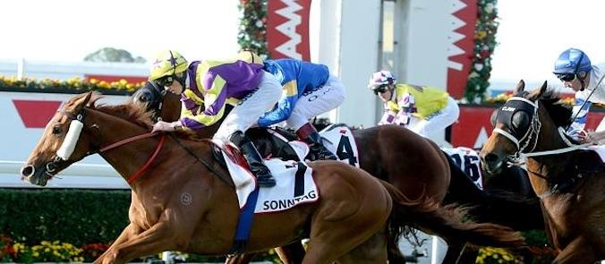 Sonntag outstays his rivals in the 2014 Queensland Derby