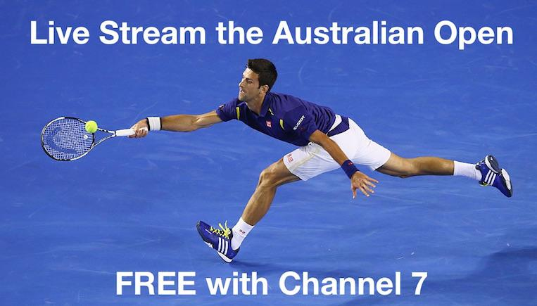 Watch the Aus Open Live with Channel 7