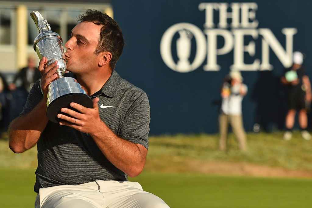 Francesco Molinari celebrates his Open Championship win at Carnoustie