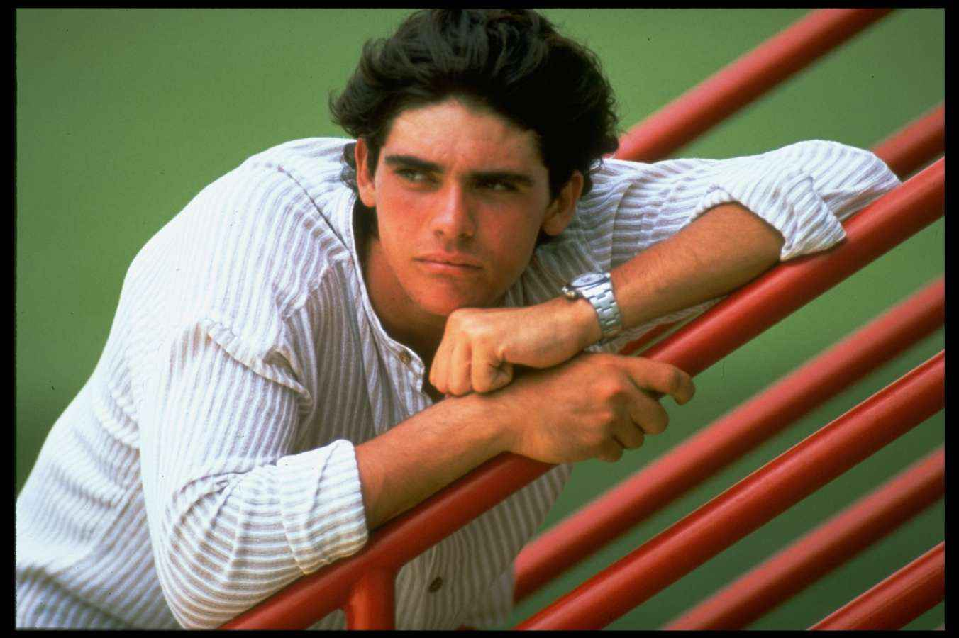 Mark Philippoussis during the 1996 Australian Open where he defeated Pete Sampras