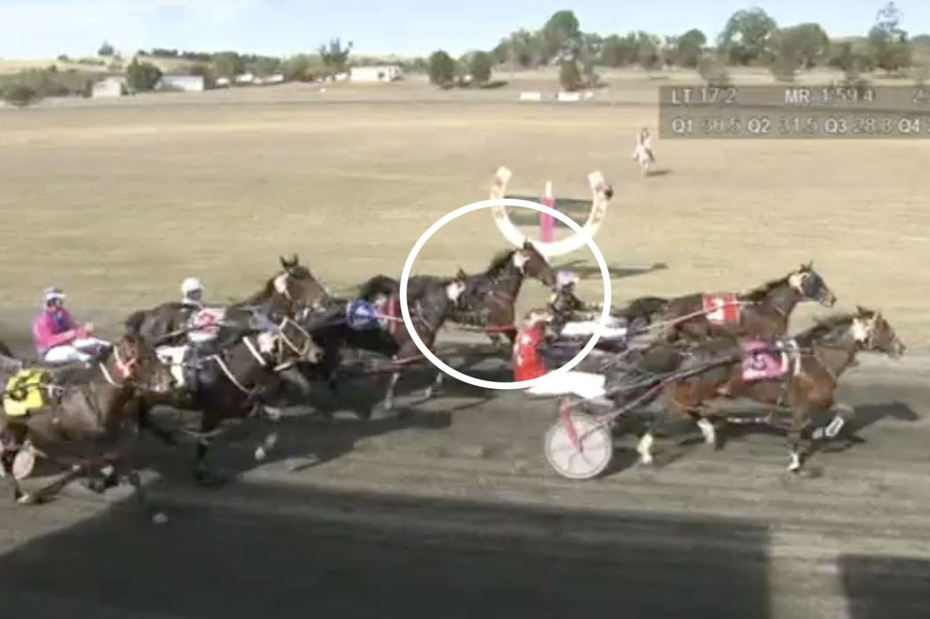 Rancho Man on the inside was third across the line