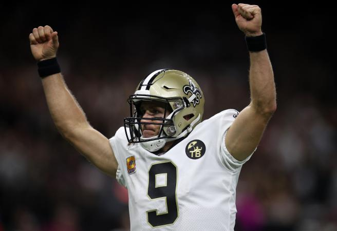 Drew Brees creates history in style