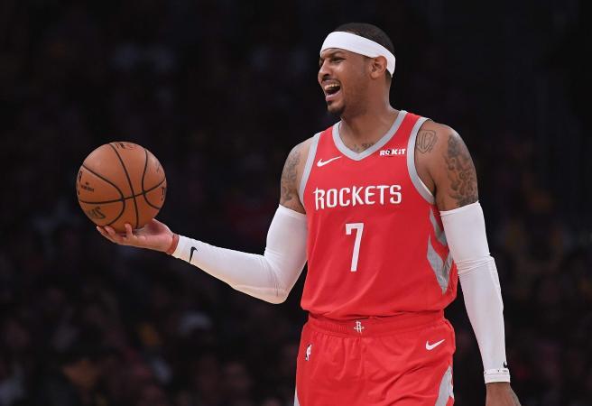 Rockets cut Carmelo Anthony