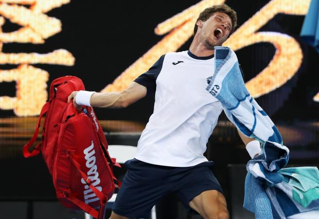 WATCH: Pablo Carreno Busta explodes after being eliminated from the Australian Open