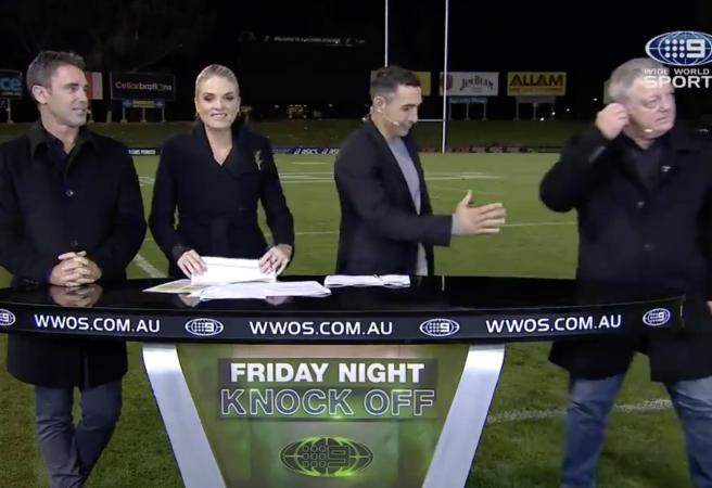 WATCH: Phil Gould leaves Billy Slater hanging!