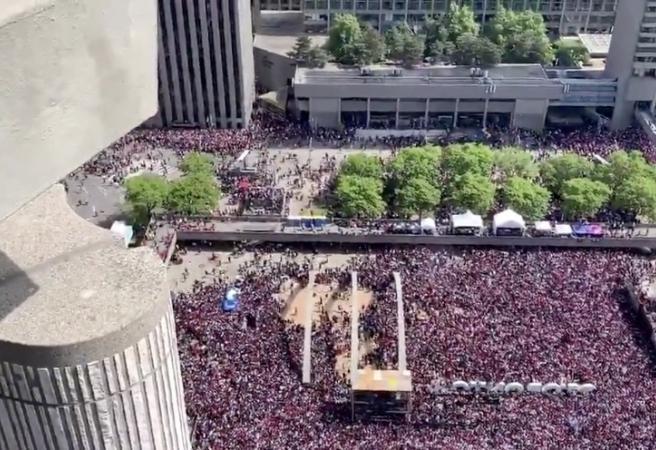 Toronto's NBA Championship parade sent into chaos