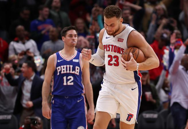 Blake Griffin drops 50 as Simmons-less 76ers go down in OT