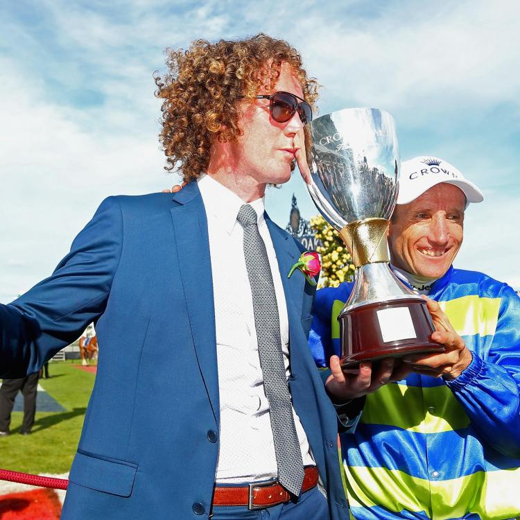 Ciaron Maher celebrates another Oaks win