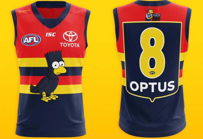 Reddit user produces incredible Simpsons-themed AFL guernseys