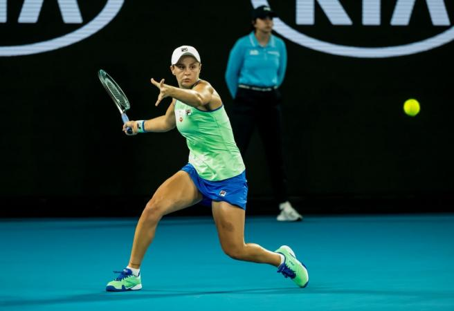 Ash Barty survives a scare to progress to second round