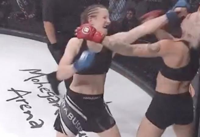 Porn star demolished in first professional MMA fight