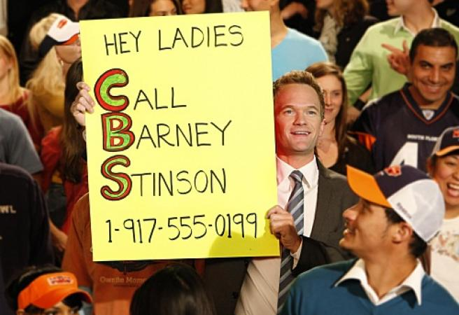 Baseball fan channels inner Barney Stinson
