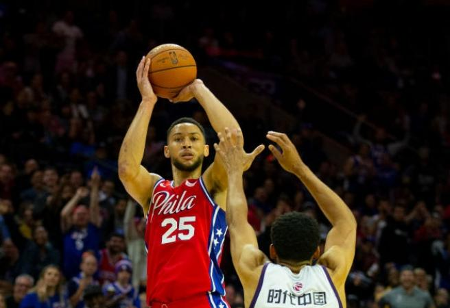 WATCH: Ben Simmons stuffs the stat sheet and nails three