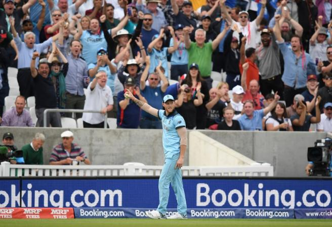 WATCH: Ben Stokes takes absurd catch in World Cup opener