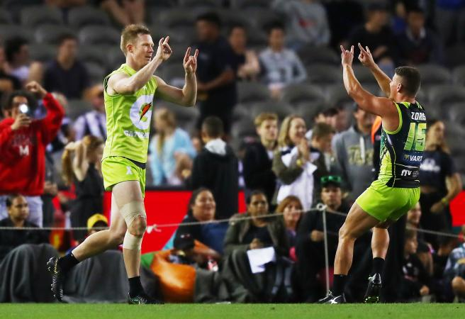 AFLX: Rampaging Riewoldt in right place and time!