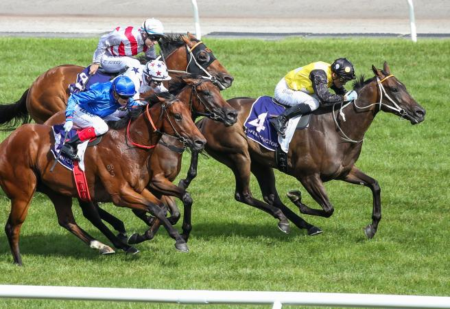 In Her Time wins the G1 Black Caviar Lightning