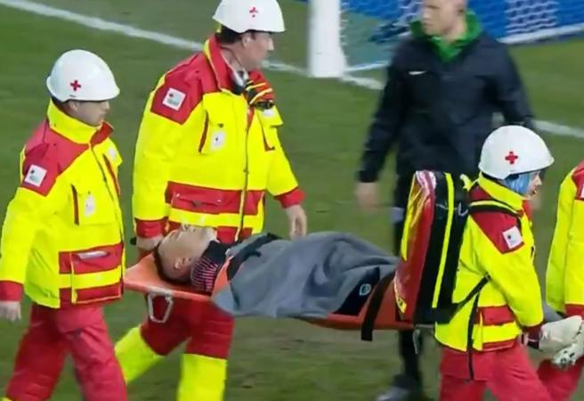 Socceroos goalkeeper injured in loss