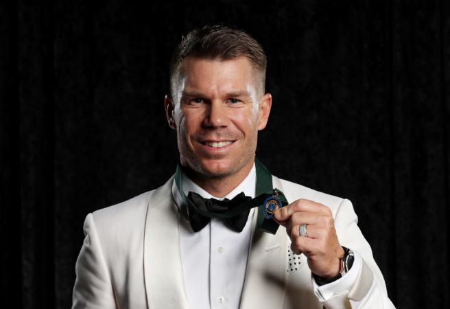 David Warner takes home the Allan Border Medal