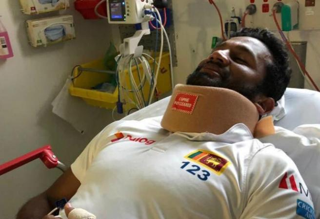 Dimuth Karunaratne discharged from hospital, may bat again!