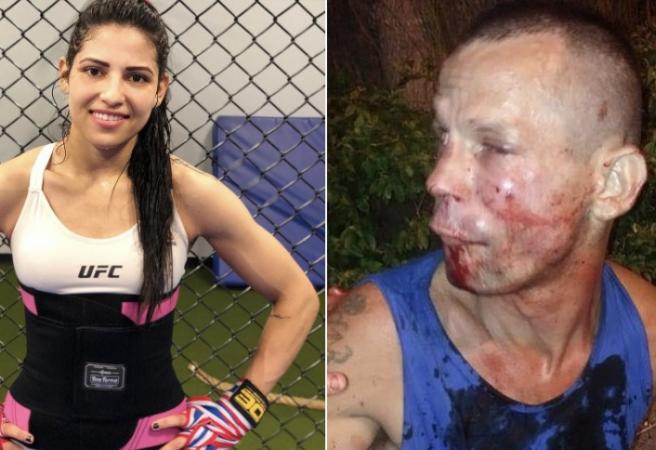 Thief taught a lesson by UFC fighter