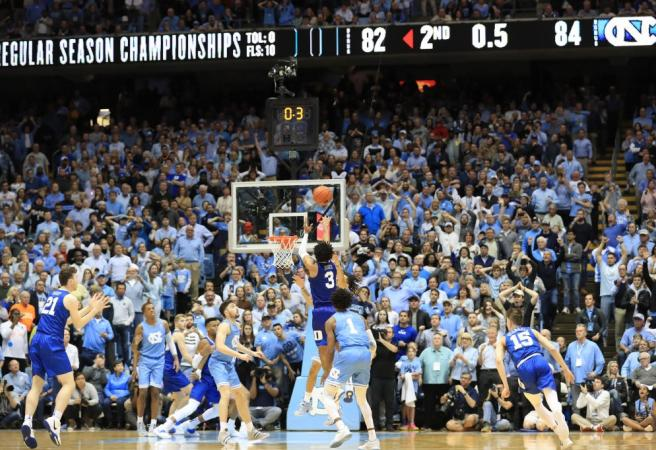 WATCH: Duke vs UNC thriller ends with wild finish