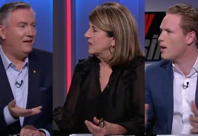 Eddie McGuire, Caroline Wilson and Sam McClure involved in heated debate on Footy Classified