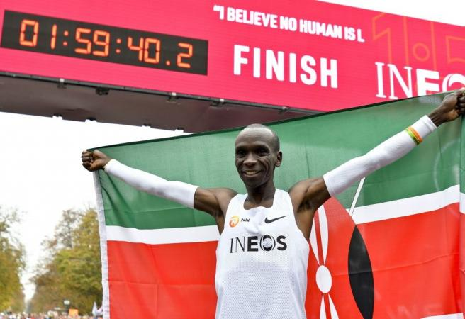Breaking down Eliud Kipchoge's sub-two hour marathon