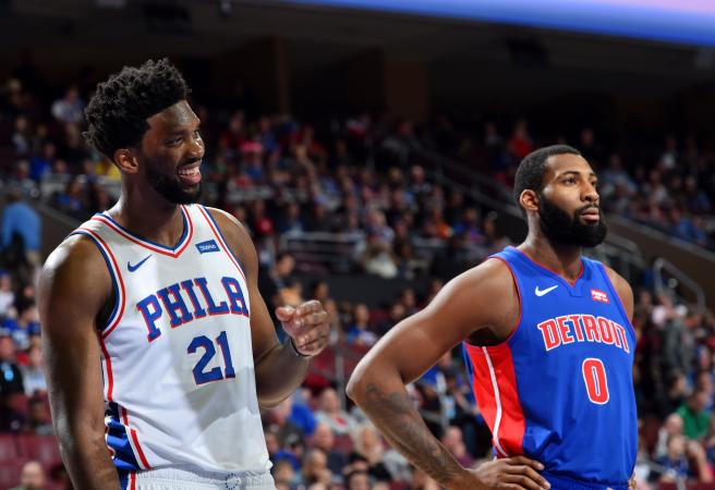 Joel Embiid dominates and continues to taunt Andre Drummond