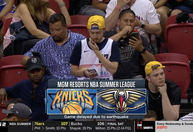 NBA Summer League Game Stopped By Earthquake