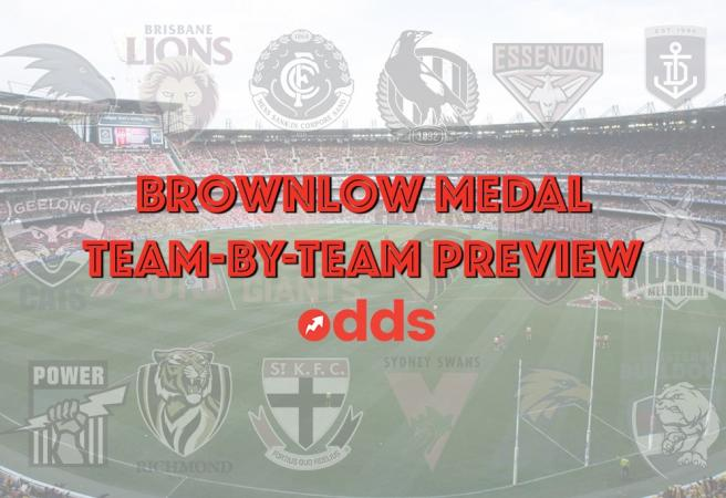 AFL Brownlow Medal: Team-by-team betting guide