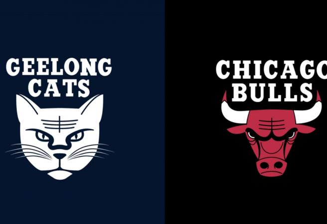 Instagram user produces awesome NBA x AFL mashup logos