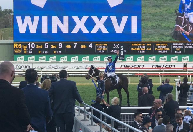 Winx does it again! 26 in a row for the champ