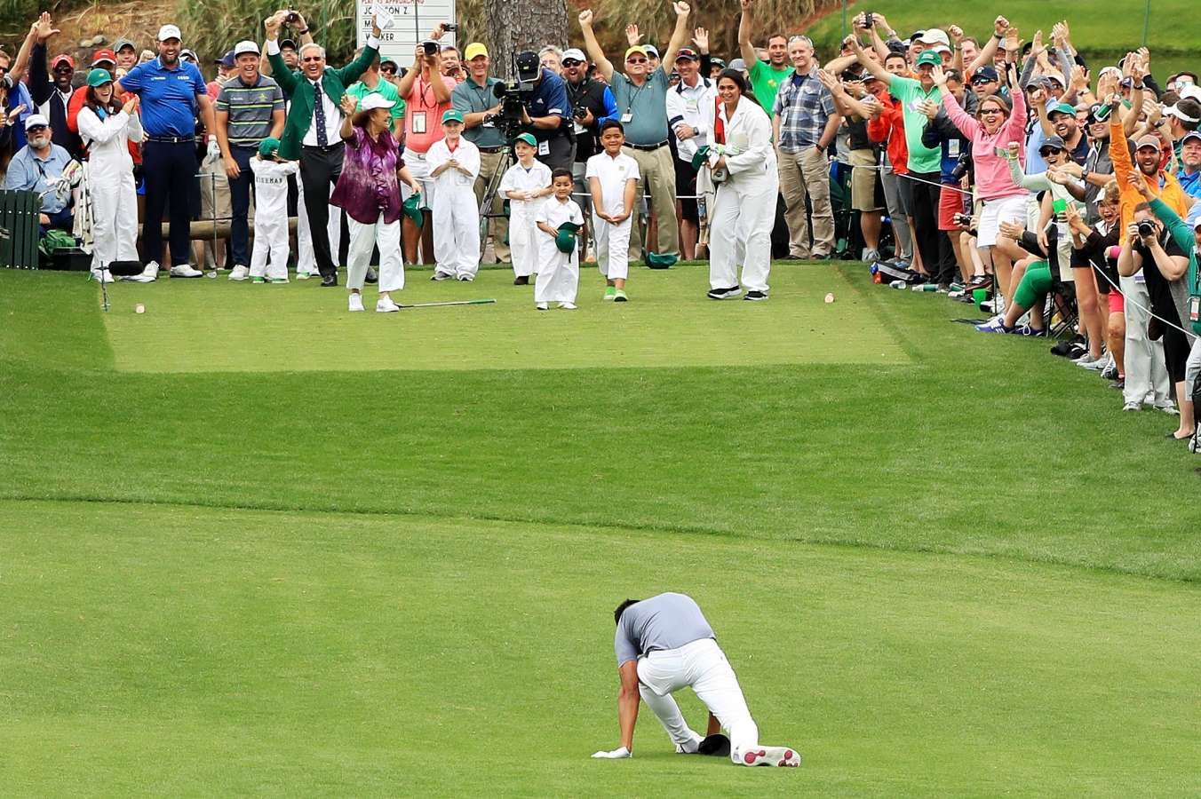 Tony Finau dislocates ankle celebrating hole-in-one at US Masters