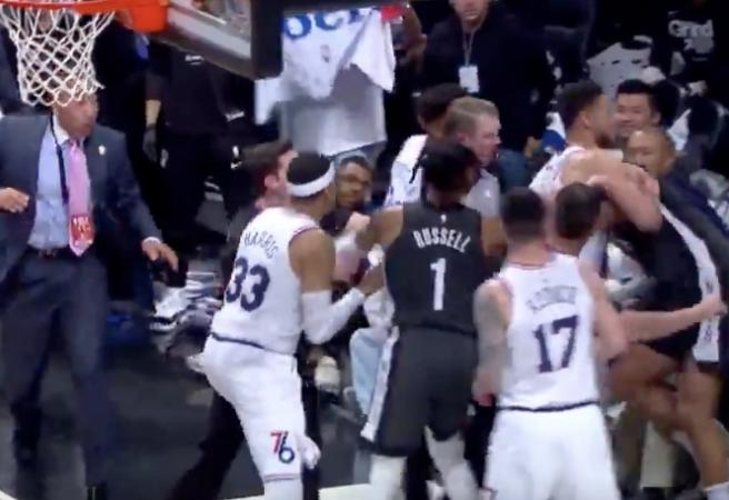 WATCH: Ben Simmons involved in playoff melee