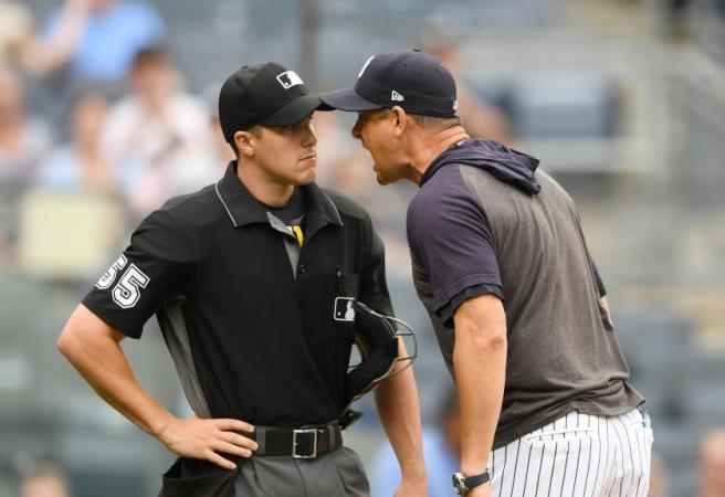 WATCH: Yankees manager gets tossed and explodes