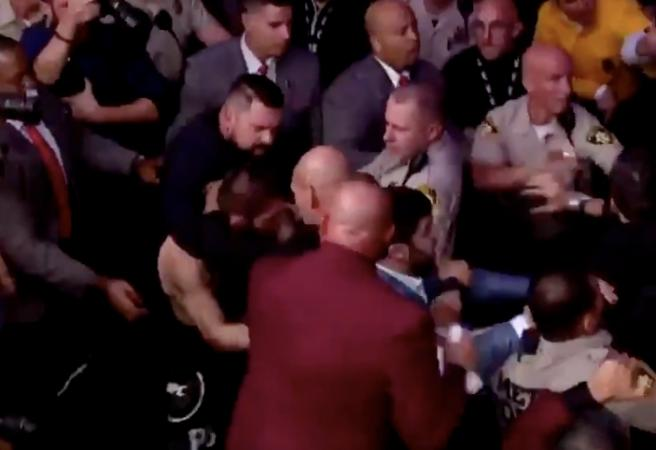WATCH: All hell breaks loose after Khabib vs McGregor fight
