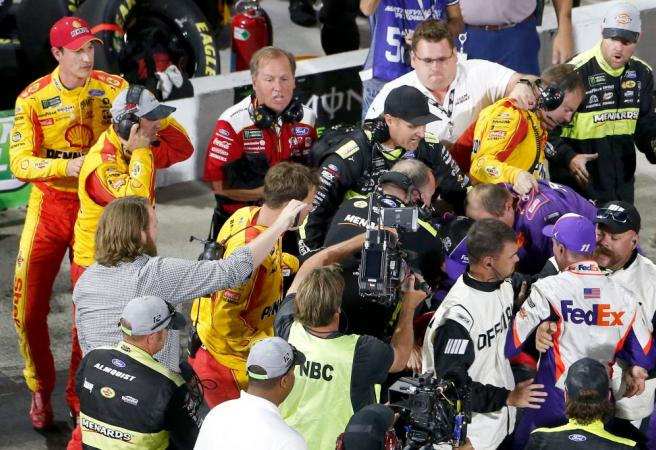 WATCH: NASCAR drivers get into fistfight